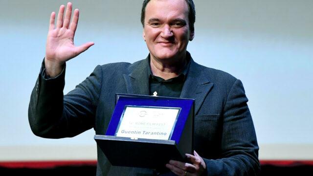 Sicurezza, ironia, intelligenza: Quentin Tarantino premiato alla Festa del Cinema di Roma